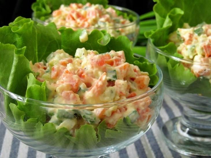 праздничная подача салат из вареной моркови фото