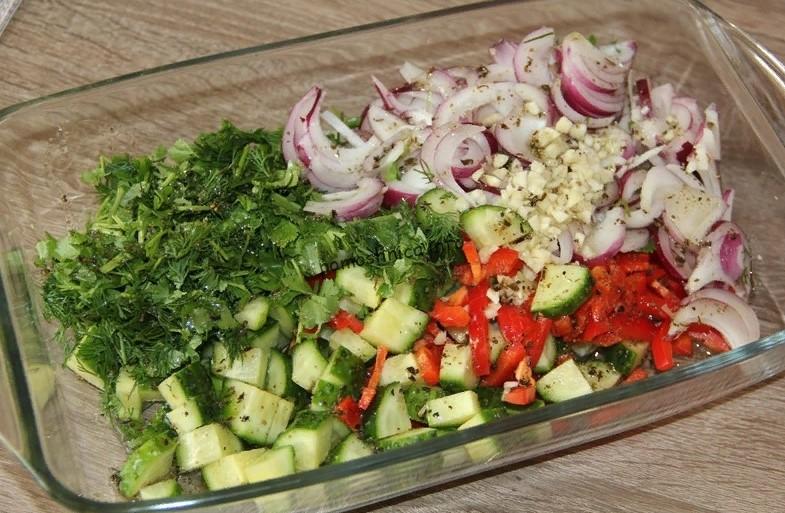 фото основных ингредиентов для салата с фасолью фото