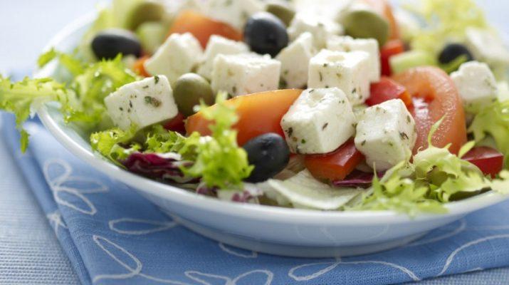 салаты с сыром фета фото
