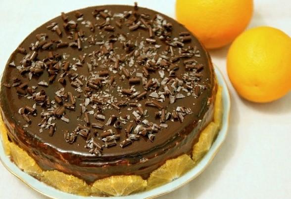 фото готового шаоколадно-апельсинового торта