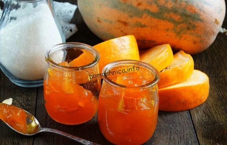 красивое и густое тыквенное варенье с апельсином и лимоном фото