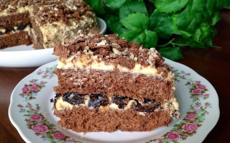 торт сметанник с черносливом фото к рецепту