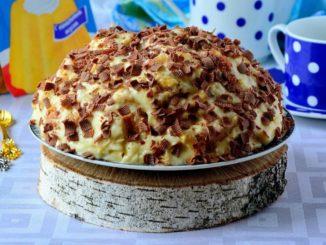 фото к рецепту торта из слоеного теста с маслом и сгущенкой