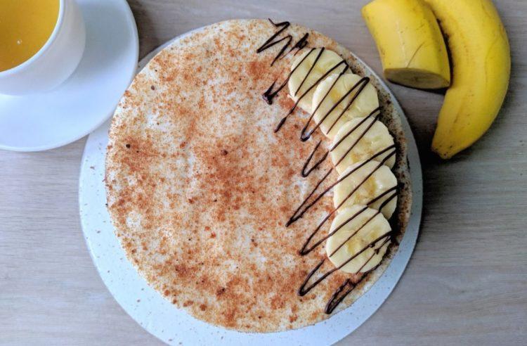 фото украшения сметанно-бананового торта
