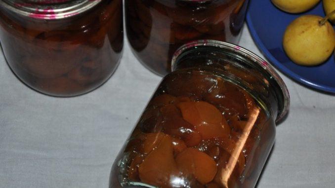 фото к рецепту варенья из груш дольками без воды