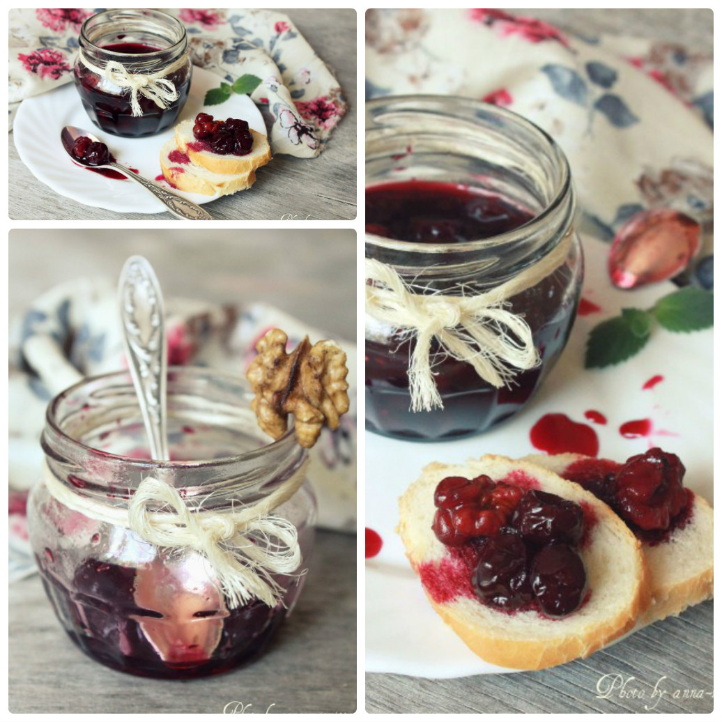 вишневое варенье с орехами фото