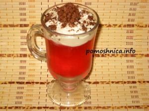 вишневое желе со взбитыми сливками рецепт с фото
