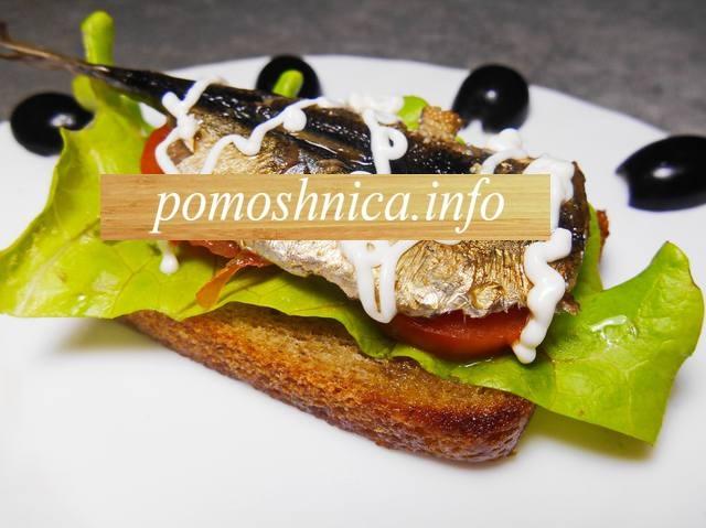 вкусные бутерброды со шпротами фото