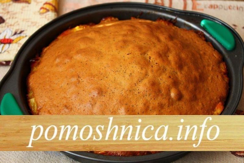 выпечка пирога с кофе и апельсинами до готовности фото