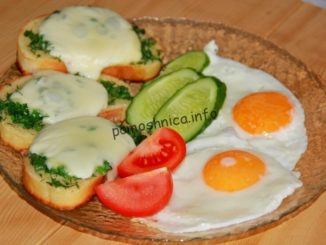 яичница глазунья на сковороде фото к рецепту